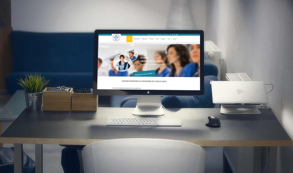 Site Internet Ecole Infirmière ECNAS Namur