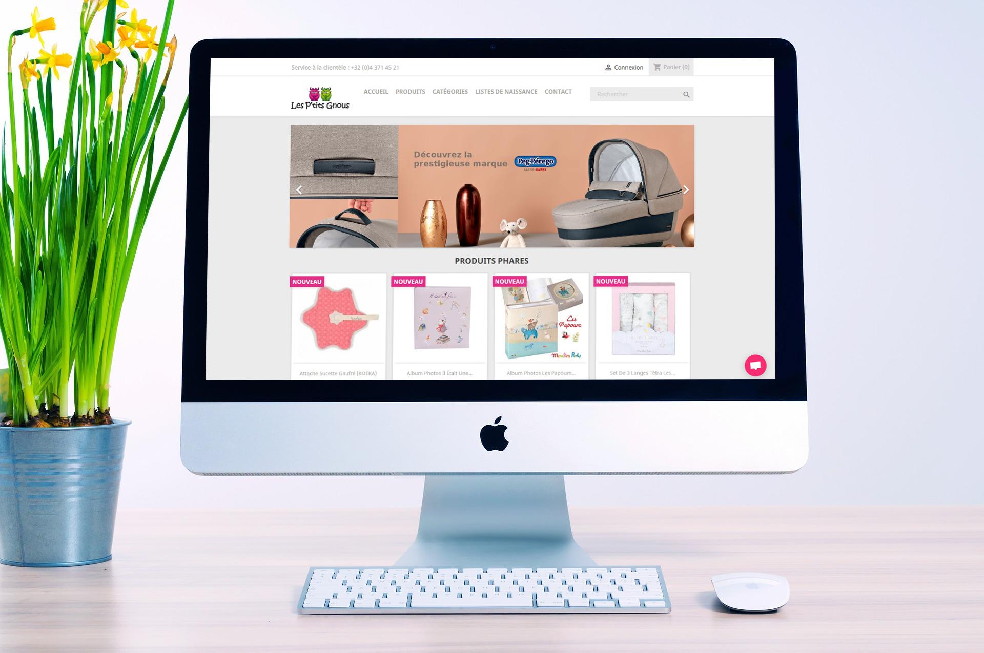 site e-commerce les ptits gnous