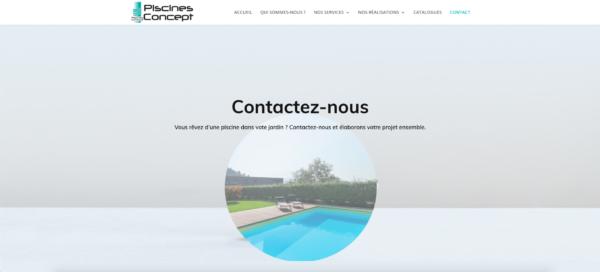 Création web piscines