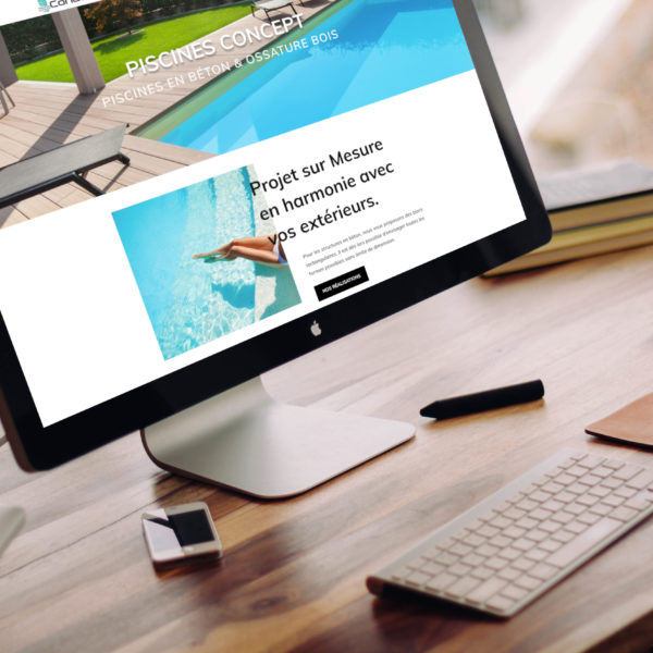 Piscines Concept Réalisation Site Internet