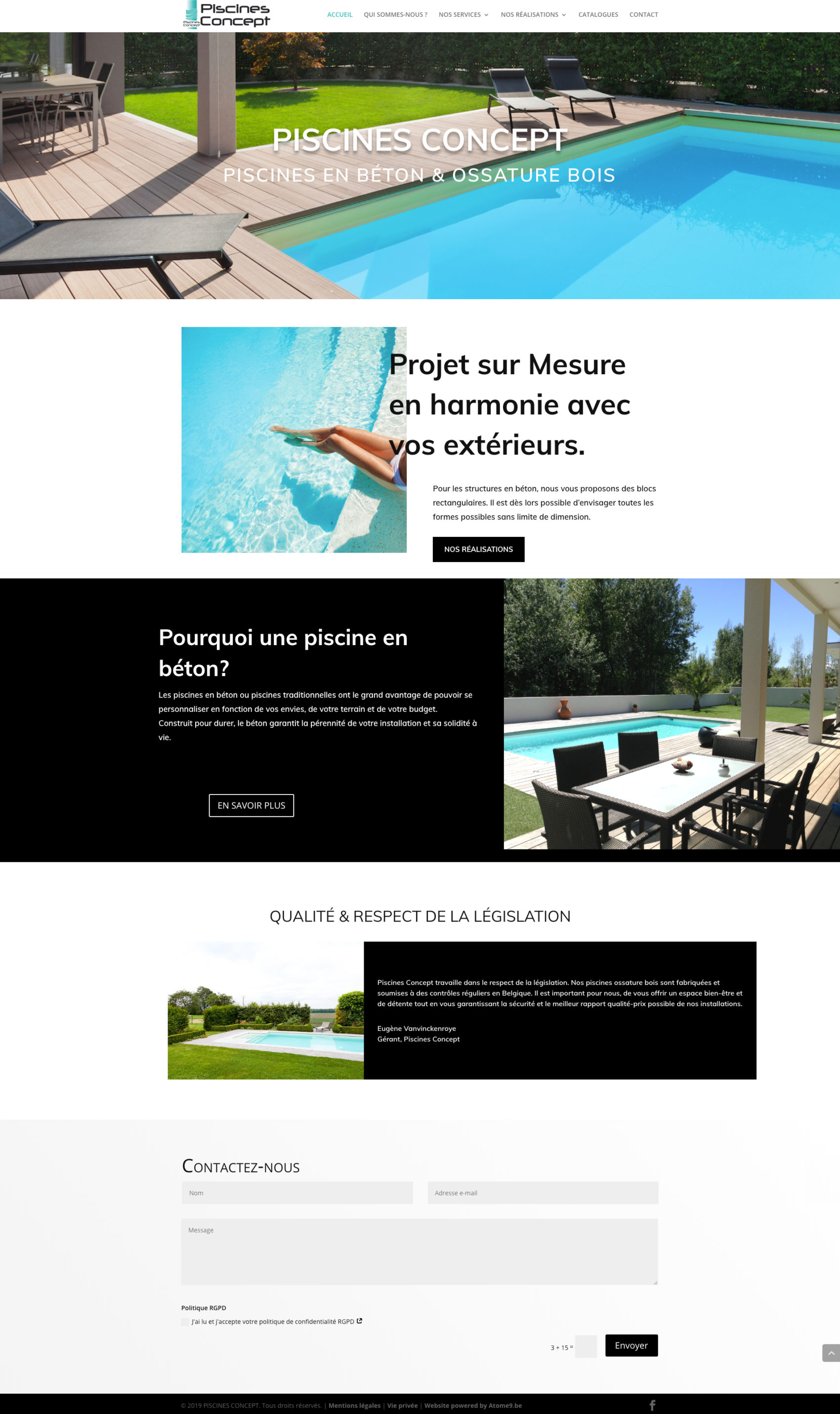 Piscines Concept Réalisation Site Internet Présentation Home