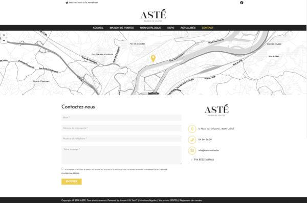 Site web Catalogue - Contact